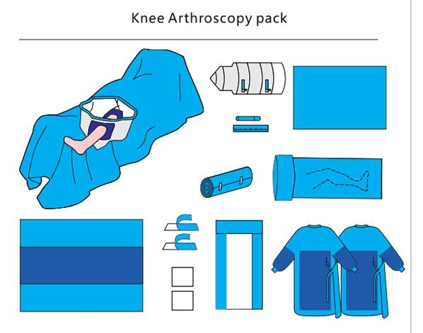 Knee Arthroscopy Surgical Pack